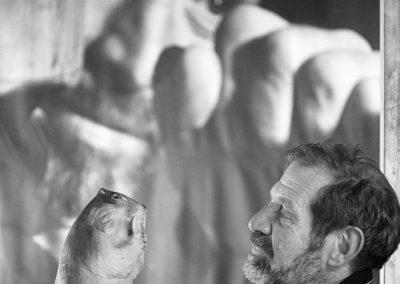 Siro Vierin scultore, Rifugio Mont Fallere, Valle d'Aosta, Italia, Europa